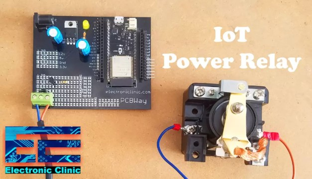 IoT Power relay esp32 and relay