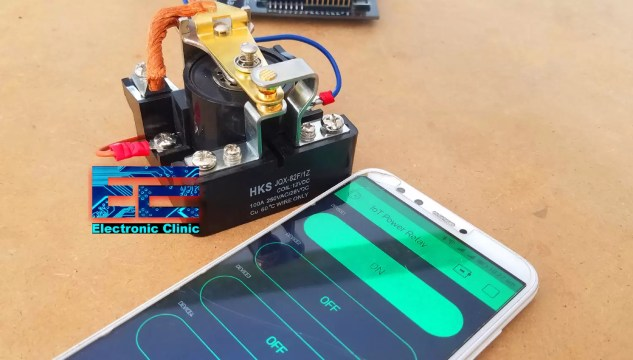 IoT Power relay 100A relay control with mobile phone app blynk