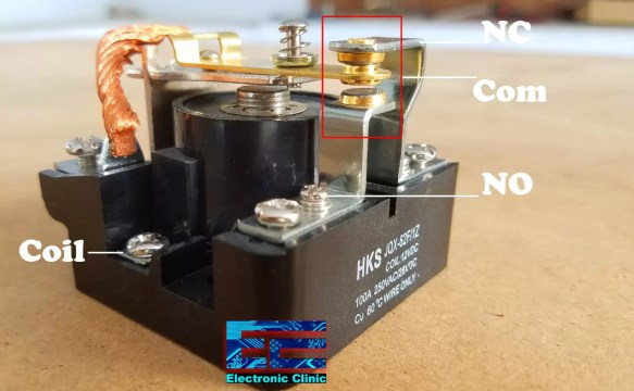IoT Power relay 100A relay contacts detail