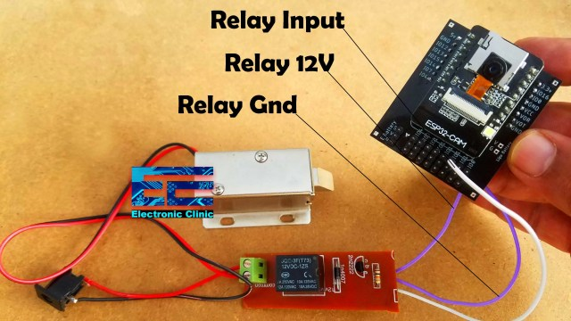 Esp32 Cam Face Recognition Door Lock System Circuit And Programming