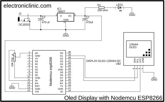 Nodemcu ESP8266 Oled Display
