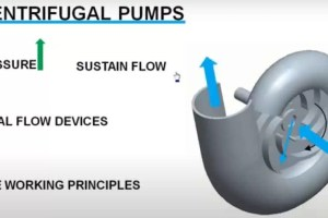 Centrifugal pump working