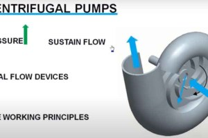 Centrifugal pump working
