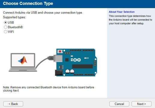 Matlab interfacing with Arduino