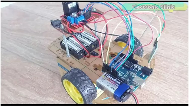 Arduino Bluetooth controlled Robot using L298n Motor Driver