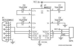 RS232  MAX232 Interface Module  ElectronicsLab