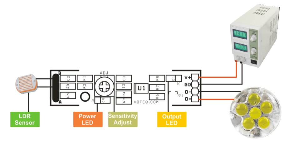 Dark-Activated-LED-Light-Wiring