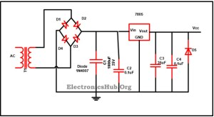 7805 IC Voltage Regulator Circuit Working and Applications