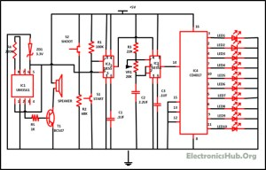 Reaction Timer Game Circuit Working and Playing Process