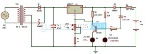 Automatic 12v Portable Battery Charger Circuit using LM317