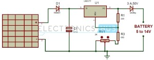 Solar Battery Charger Circuit using LM317 Voltage Regulator