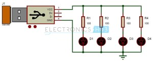 USB LED Lamp Circuit | 5v USB Light for Laptop