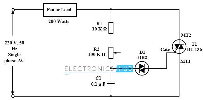 ceiling fan regulator circuit diagram