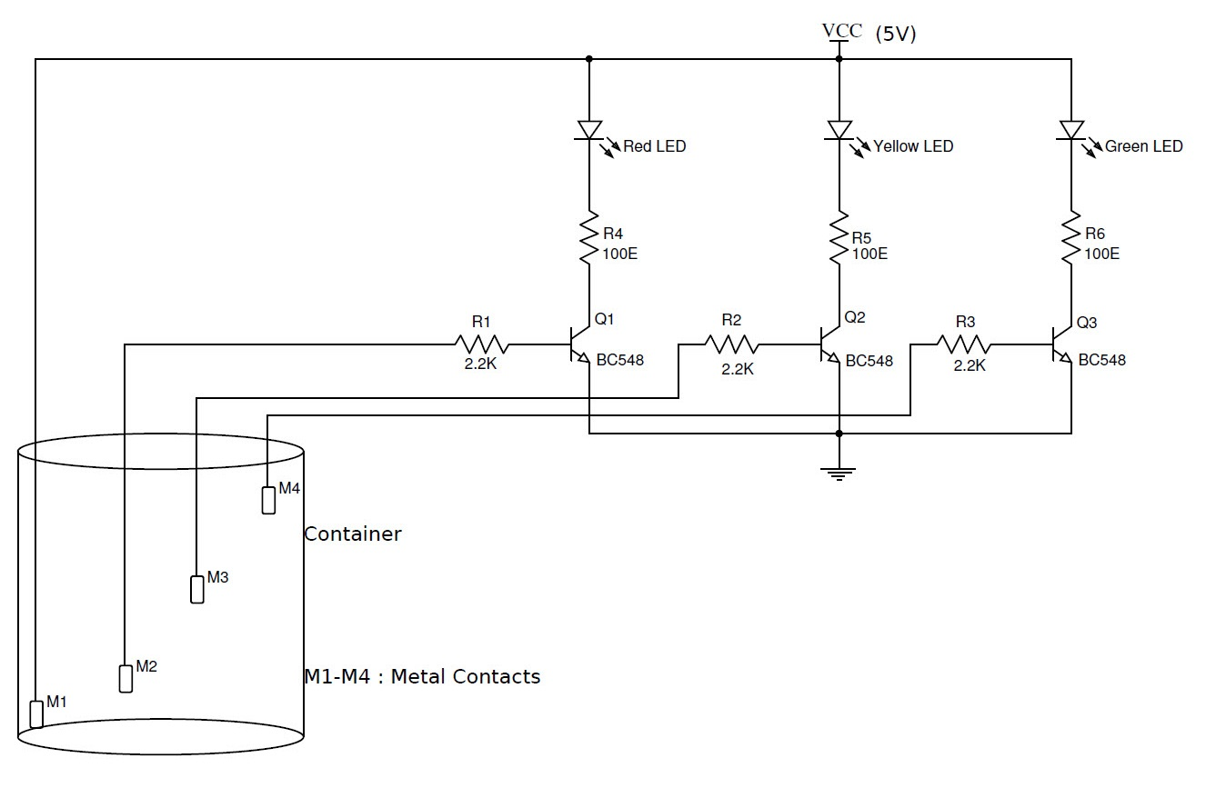 Level Controller Circuit On Motor Control Schematic