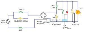 230v LED Driver Circuit Diagram, Working and Applications