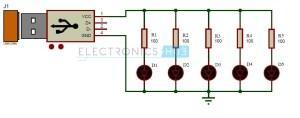 USB LED Lamp Circuit | 5v USB Light for Laptop