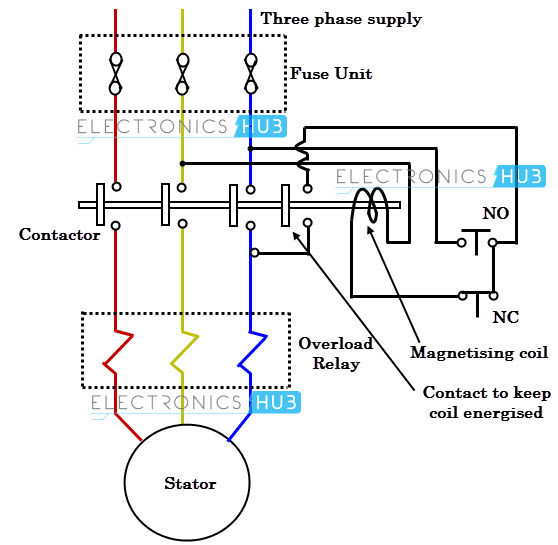 single phase submersible pump starter circuit diagram l t dol starter circuit diagram dol motor starter control circuit - impremedia.net