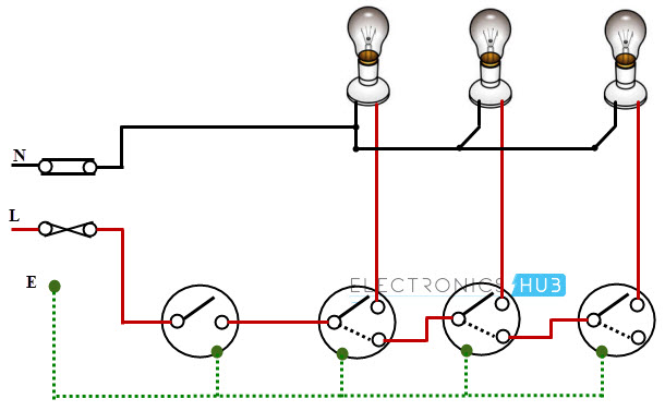 Staircase wiring images staircase gallery 2 way switch wiring diagram light greentooth Choice Image