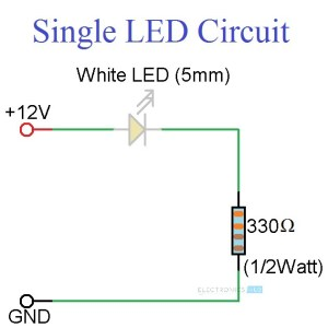 Simple LED Circuits: Single LED, Series LEDs and Parallel LEDs