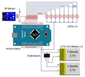 POV Display using Arduino  DiY Propeller (Rotating LED