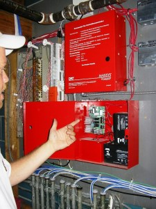 Servicing a Commercial Fire Alarm (image)