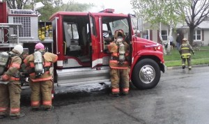 Circleville, Ohio firefighters at work. (image)