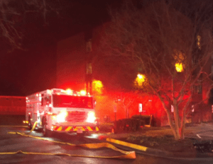 Sprinkler puts fire out before fire department arrives (Image)