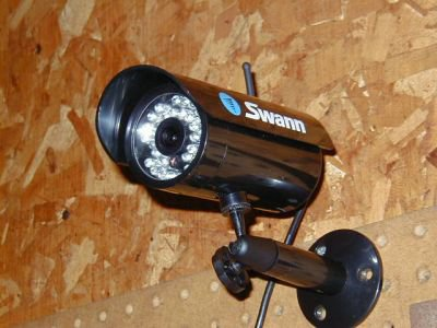 Swann camera installed in the garage of a residential client. (image)