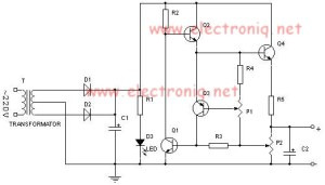 0724V 2A Variable power supply circuit diagram