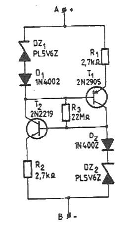 Constant current source circuit 1550V range