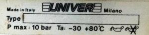 Μπουκάλα αέρος UNIVER έμβολα αέρος