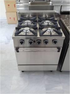 κουζίνα γκαζιού με 4 εστίες