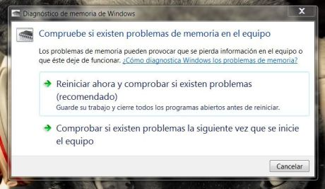 Diagnóstico de memoria de Windows