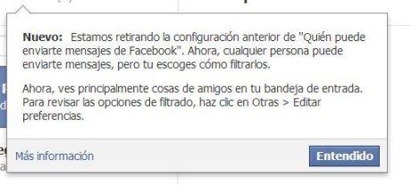 Facebook Mensajes