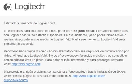Logitech Vid no funciona