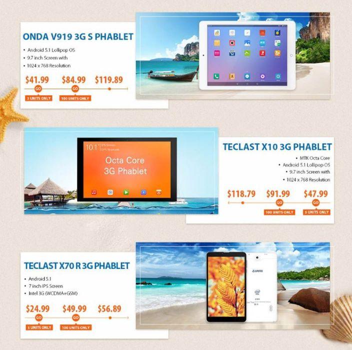 Tablets de oferta GearBest
