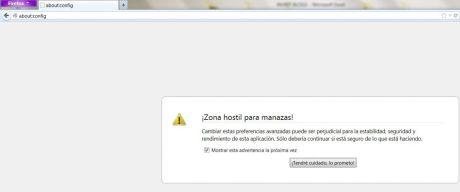 Vamos a la configuración de Firefox