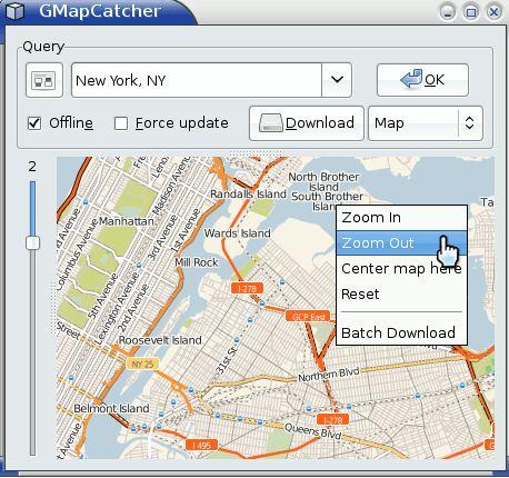 Google maps offline con gmapcatcher electrorincon el software funciona en modo online y offline utilizarlo es sencillo primero navegamos por los mapas que nos interesan guardar en el modo online gumiabroncs Choice Image