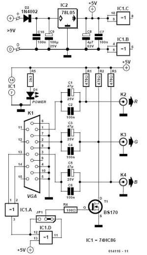 VGA to BNC Adapter