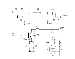 900 MHz Radio Amplifier Circuit
