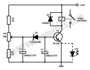 12V Time Delay Relay Circuit