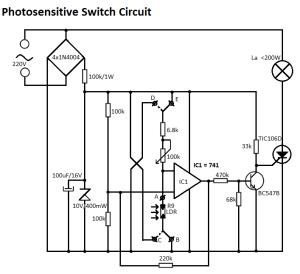 Light Sensitive Switch Circuit