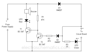 Short Circuit Indicator Circuit