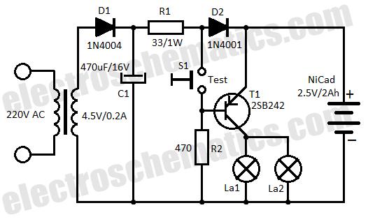 emergency light wiring diagram