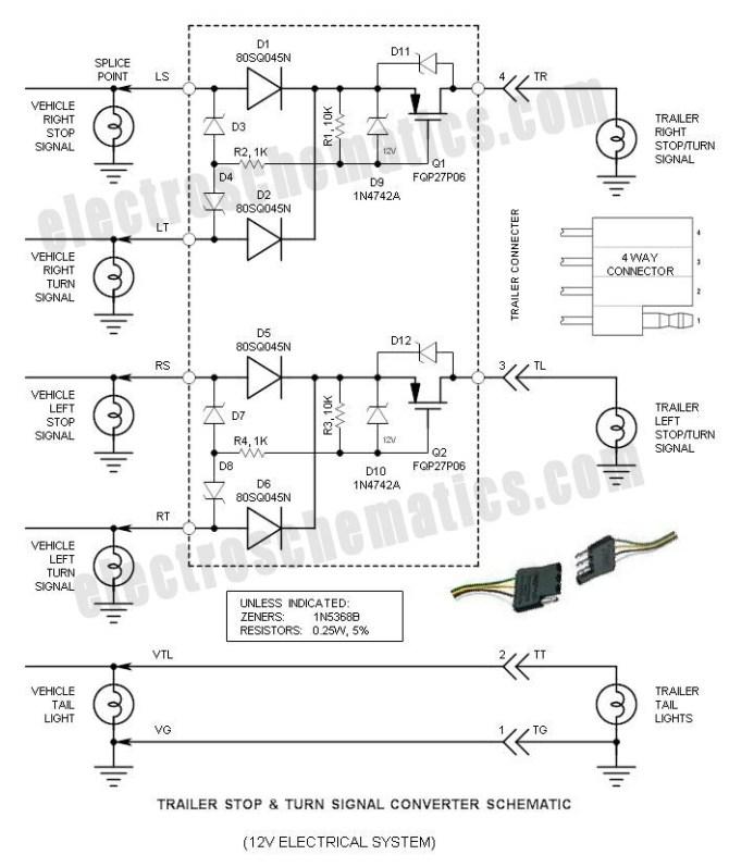 trailer stop  turn signal converter