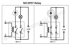 DPST Relay  Double Pole Single Throw