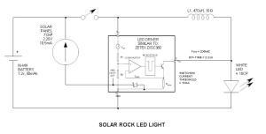 Solar Rock Pathway Lighting Circuit