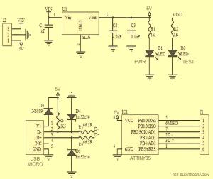 Learn To Use ATtiny85 USB Mini Development Board