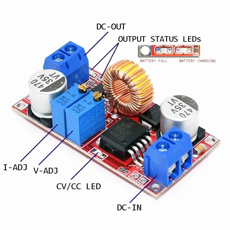 XL4015 Step-Down DC Module with CV/CC Control