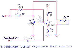 ElectroSmash  Dunlop Crybaby GCB95 Circuit Analysis
